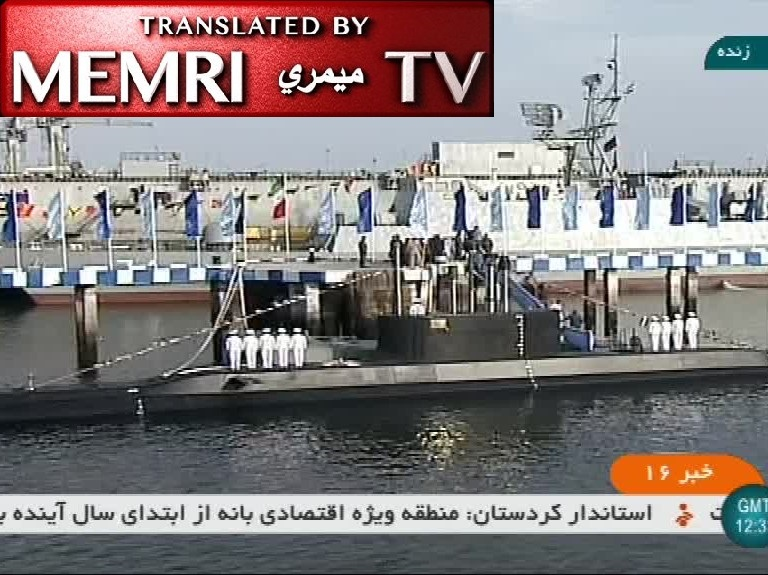 Iran Unveils Fateh Submarine, Capable of Launching Anti-Ship Cruise Missiles, Mines, Torpedoes; Commander of Iran Navy Hossein Khanzadi: It Is Time to Banish the U.S. from the Region